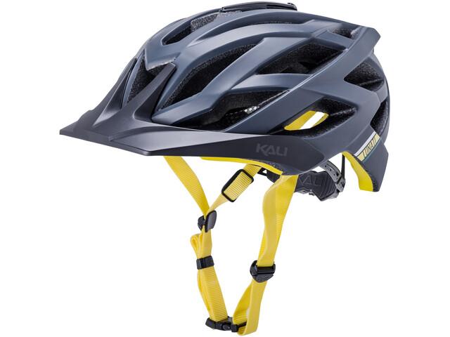 Kali Lunati Sync Helmet matt navy/yellow